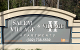Salem Village Apartments sign