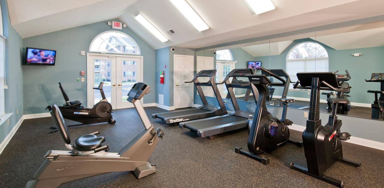 the fitness center at the Village at Blue Hen