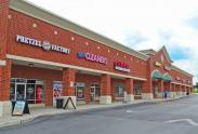 View of the Pretzel Factory, Sky Cleaners, and GNC within London Grove Village Shopping Center